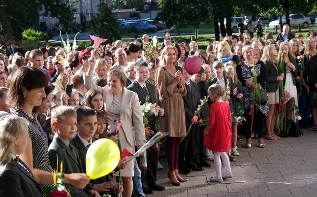 Martyno Jankaus pagrindinės mokyklos moksleiviai, mokytojai.
