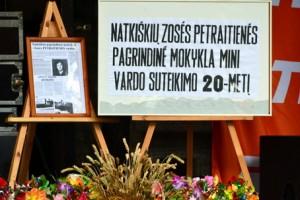 Zosės Petraitienės vardo suteikimo Natkiškių mokyklai 20-metis minėtas ir švenčiant Onines – didžiausią kaimo bendruomenės šventę. Petro Skutulo nuotr.