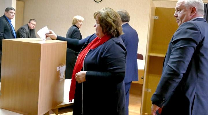 Į balsavimo urnas visus biuletenius sumetė tik nepasitikėjimą dabartiniu meru palaikę 11 Tarybos narių, o du balsavo prieš nepasitikėjimą merui.