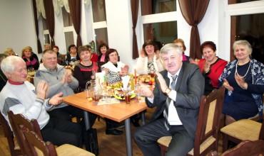 Vakaronėje dalyvavęs Vainuto seniūnas V. Mockus sveikino folkloro vakaro dalyvius ir šio renginio sumanytojus.