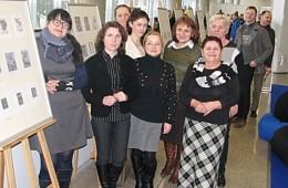 Bibliotekų erdvėje buvo eksponuojami praėjusiais metais šilutiškių bibliotekininkų organizuoto  tarptautinio ekslibrisų konkurso darbai.