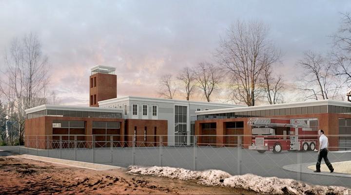 """Taip atrodys naujoji Šilutės PGT būstinė.     UAB """"Nemuno deltos projektai"""" vizualizacija"""