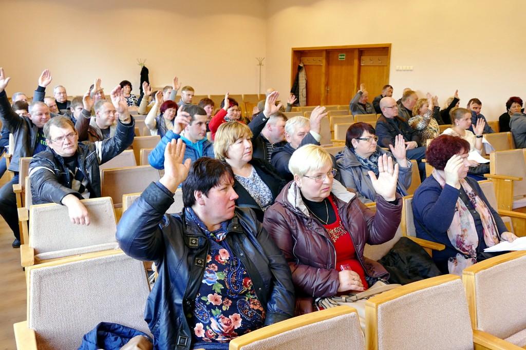 Už naujosios asociacijos įsteigimą balsavo 36 organizacinio komiteto nariai.