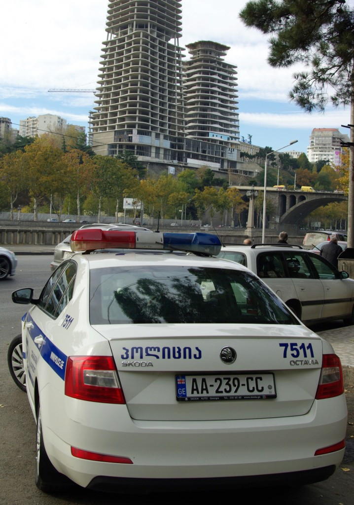 Škodas mėgsta ir Gruzijos policija.