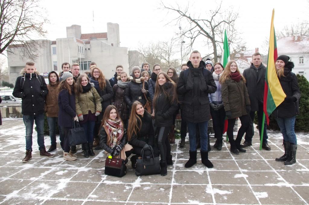 Renginyje dalyvavo Šilutės Vydūno gimnazijos moksleiviai su mokytoju Linu Zdanevičiumi.