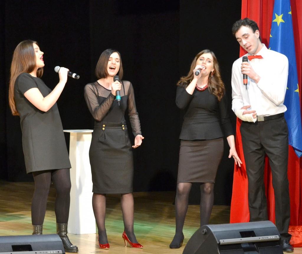 Pagėgiškių kvartetas – Gabija Verygaitė, Milda Jašinskaitė-Jacevičienė, Airida Mockutė, Justinas Bartkus.
