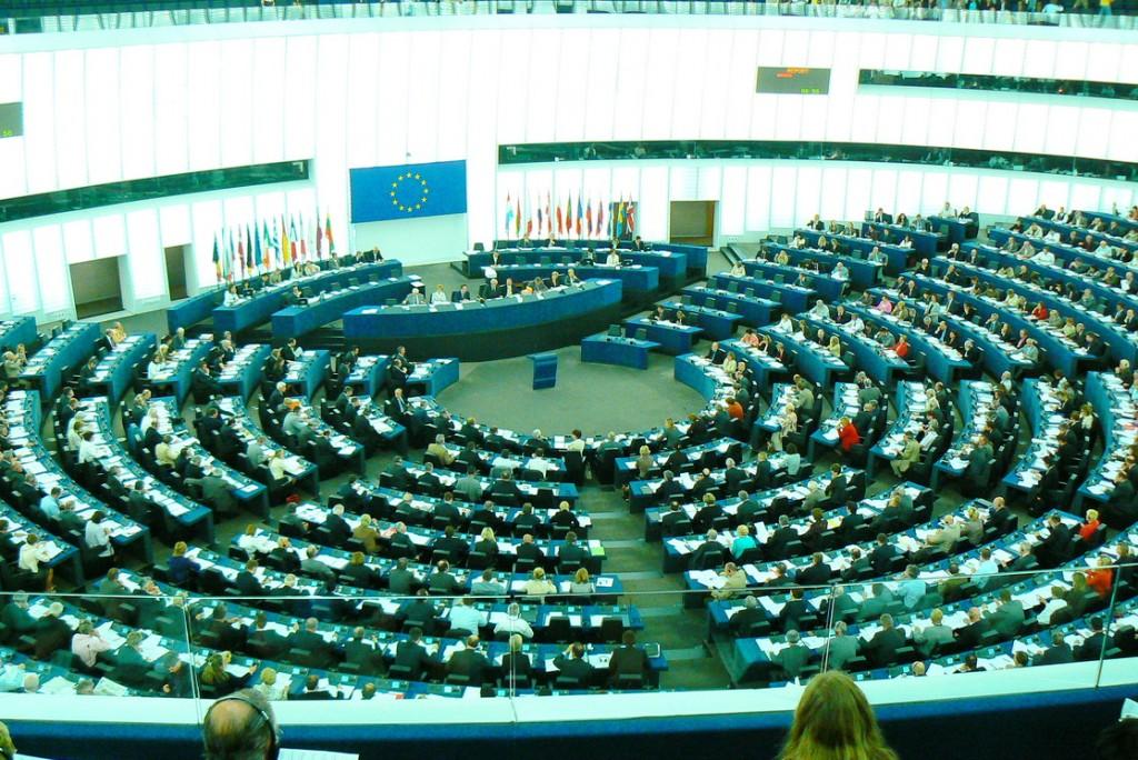 EP plenarinių posėdžių salė Strasbūre. Petro Skutulo nuotr.