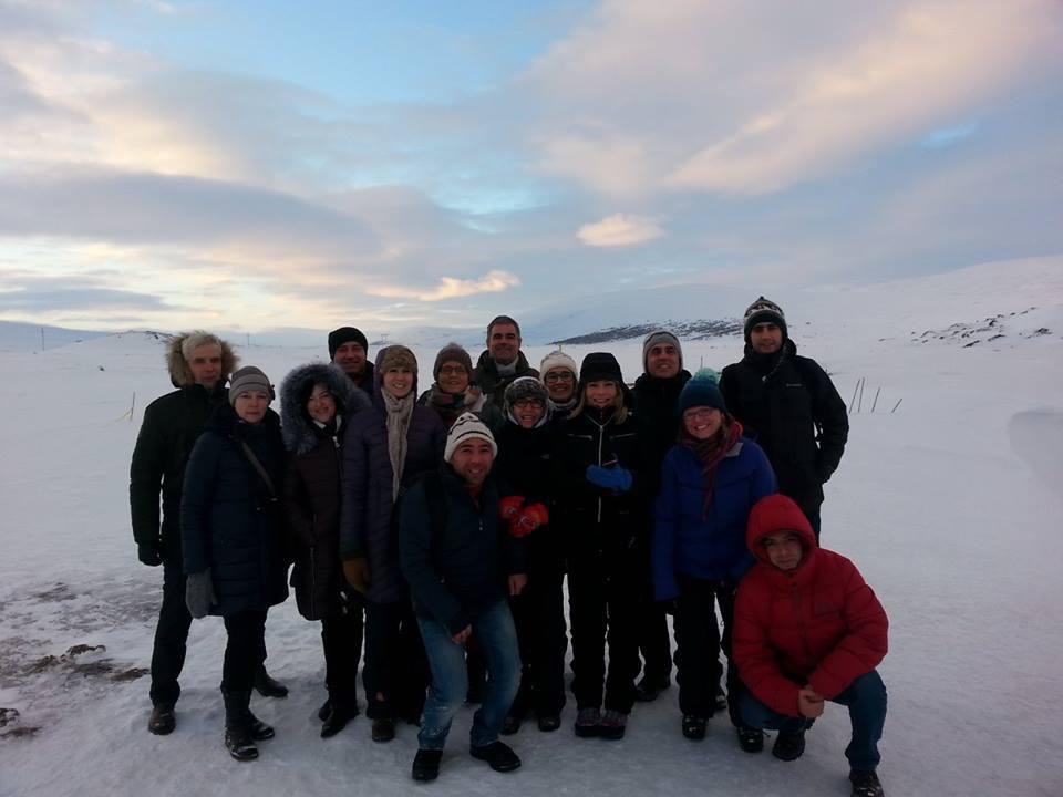 Susitikimo dalyviai Islandijoje.