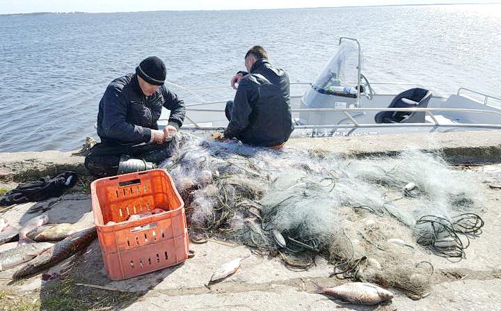 Pamatę pareigūnus įžūlūs žvejai nė nekrustelėjo...