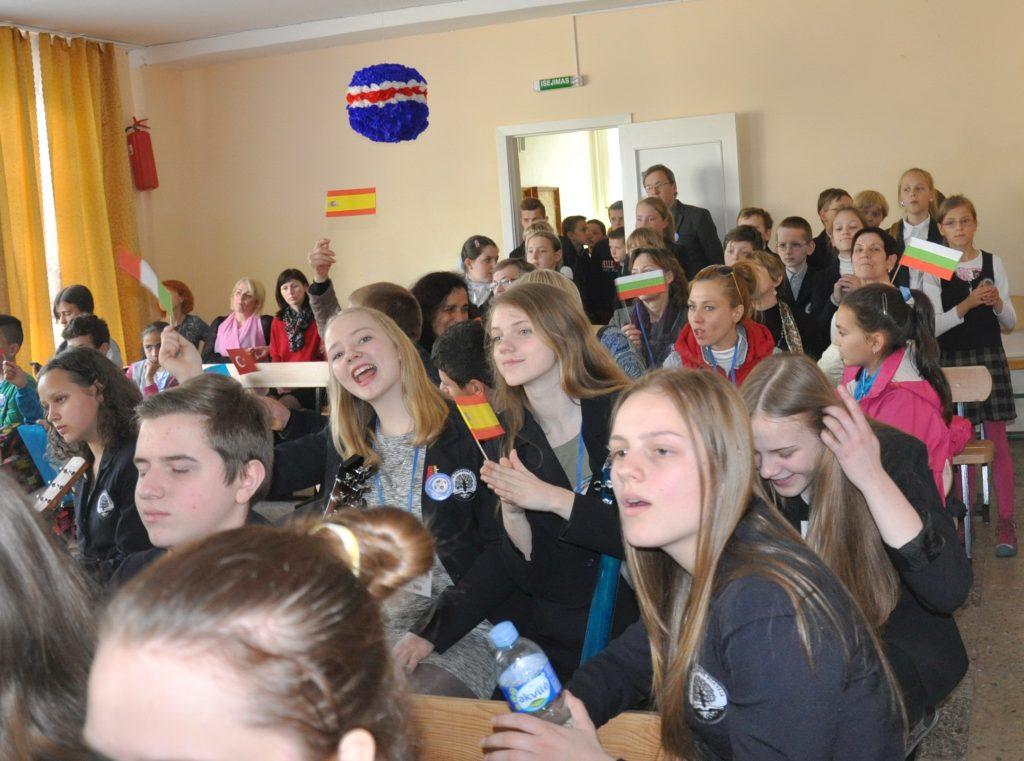 Renginyje dalyvavo svečiai iš užsienio ir Šilutės rajono jaunimo organizacijų.