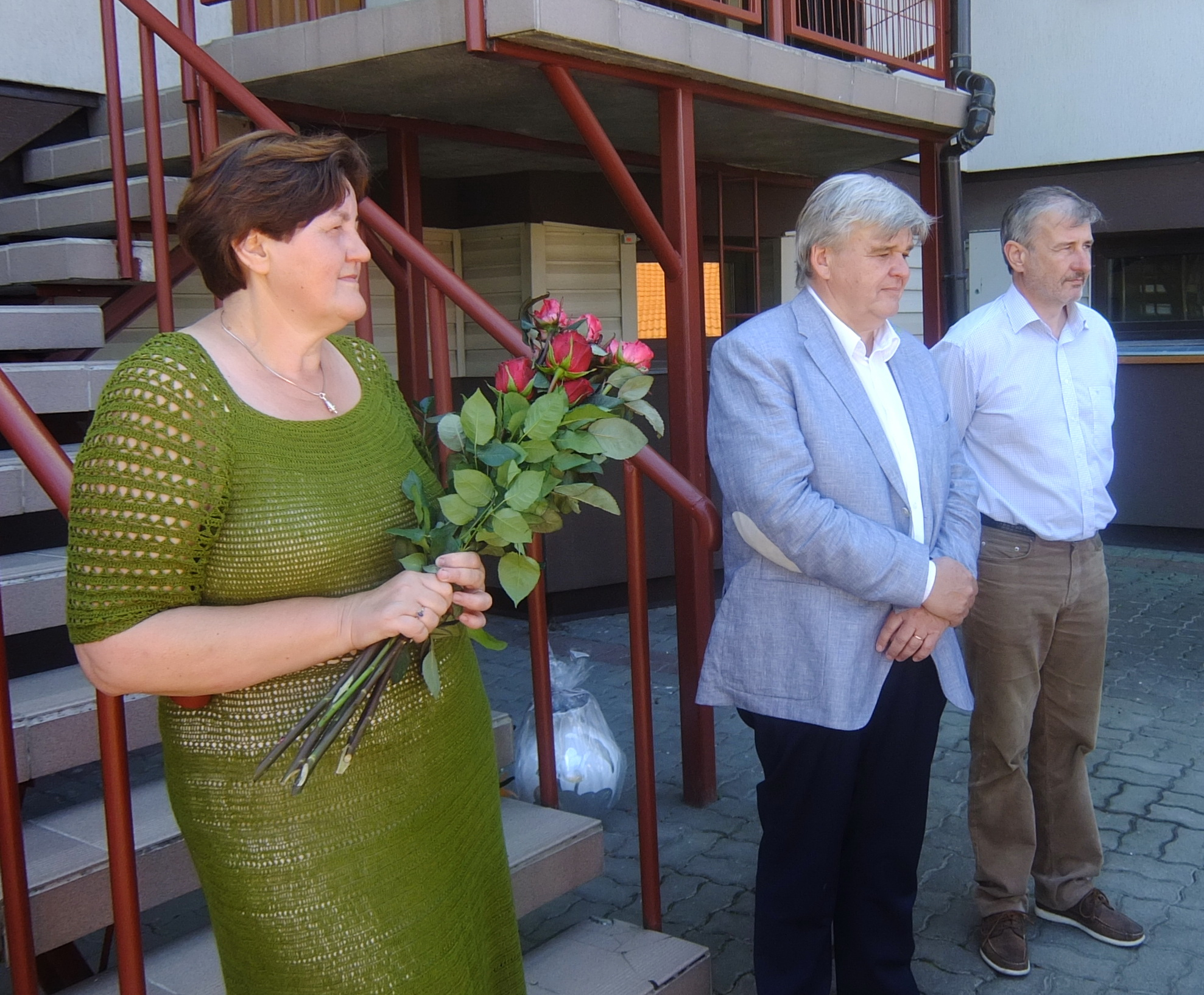 Senjorų namų savininkai: Giedrė, Leonas ir Antanas Anskaičiai.