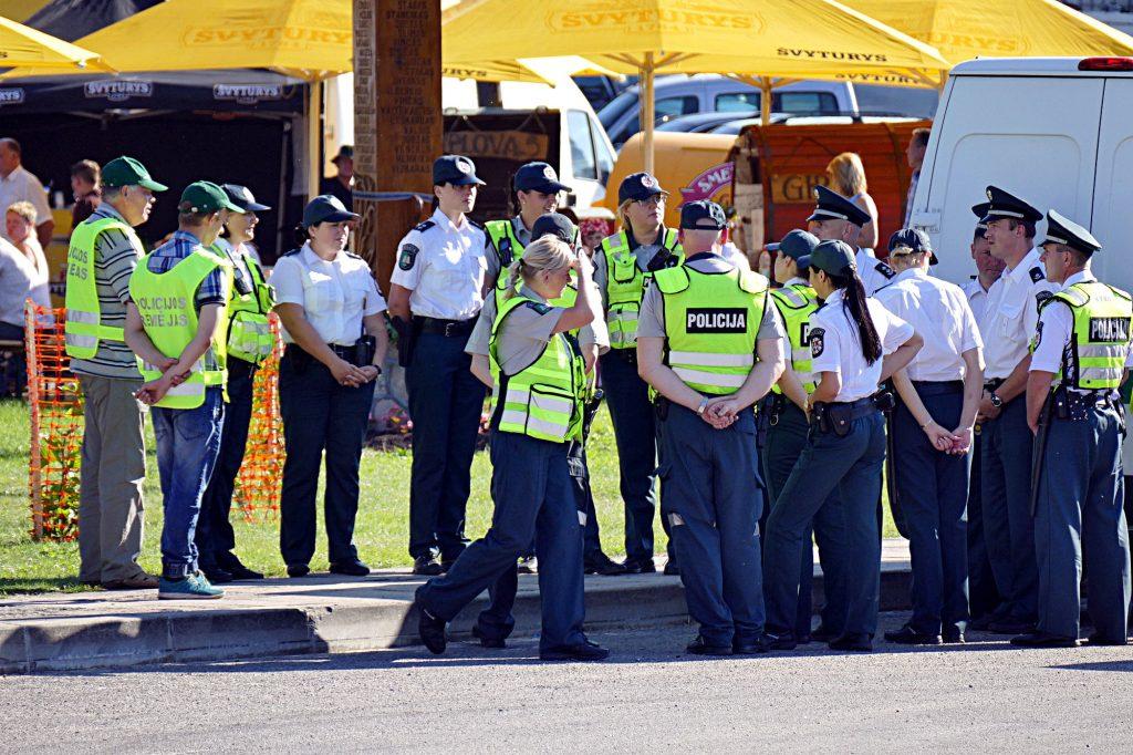 Viešąją tvarką šventės metu saugojo gausios policininkų ir jų rėmėjų pajėgos.