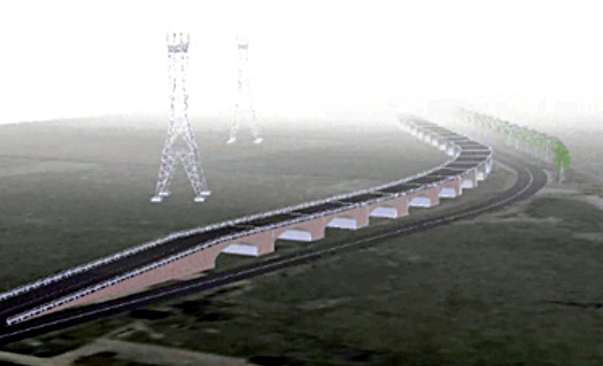 Vienas iš galimų estakados projektų savo išvaizda primena Griniaus tiltą.