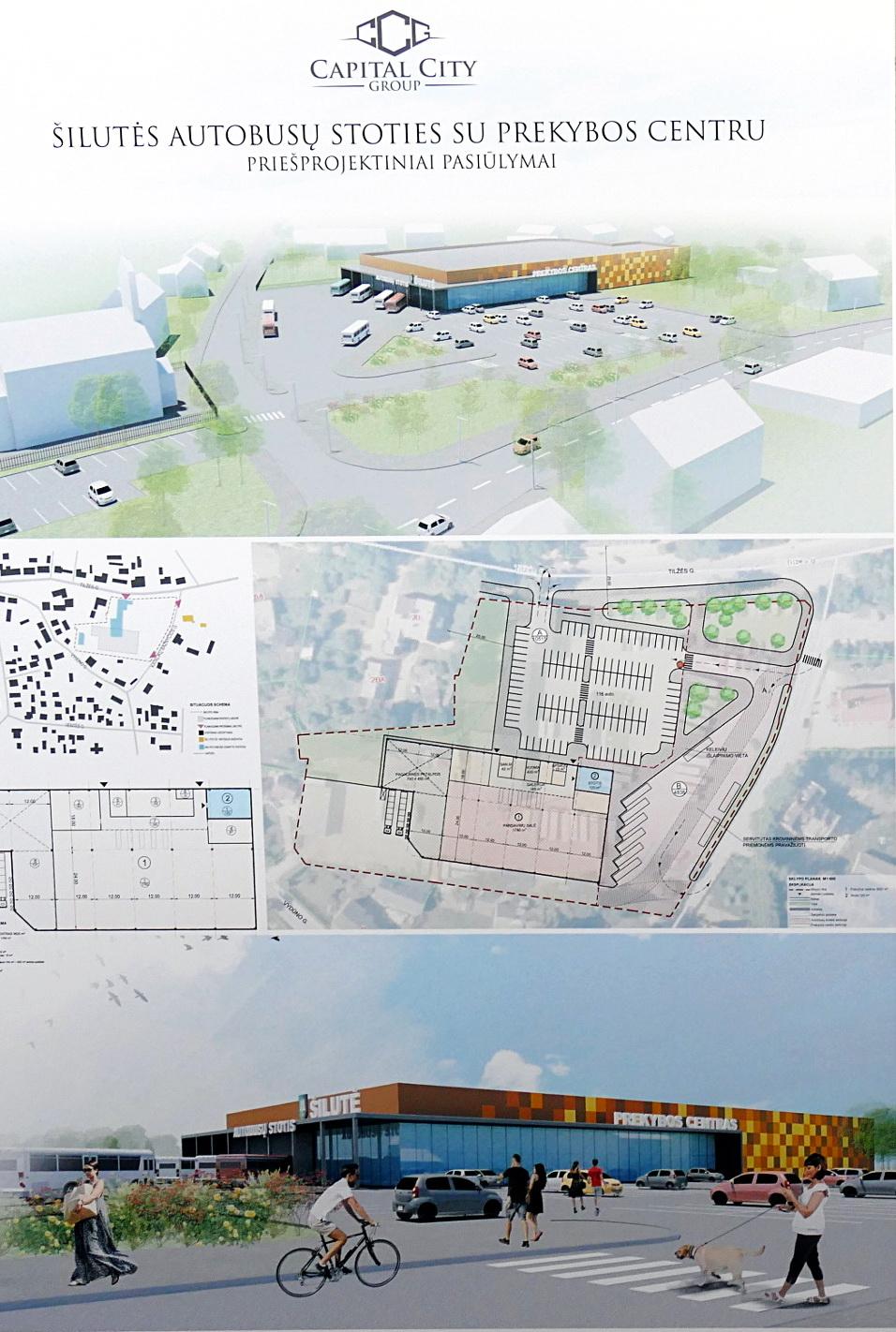 """""""Capital City Group"""" pateiktame siūlyme autobusų stotis ir prekybos centras galėtų būti viename pastate."""