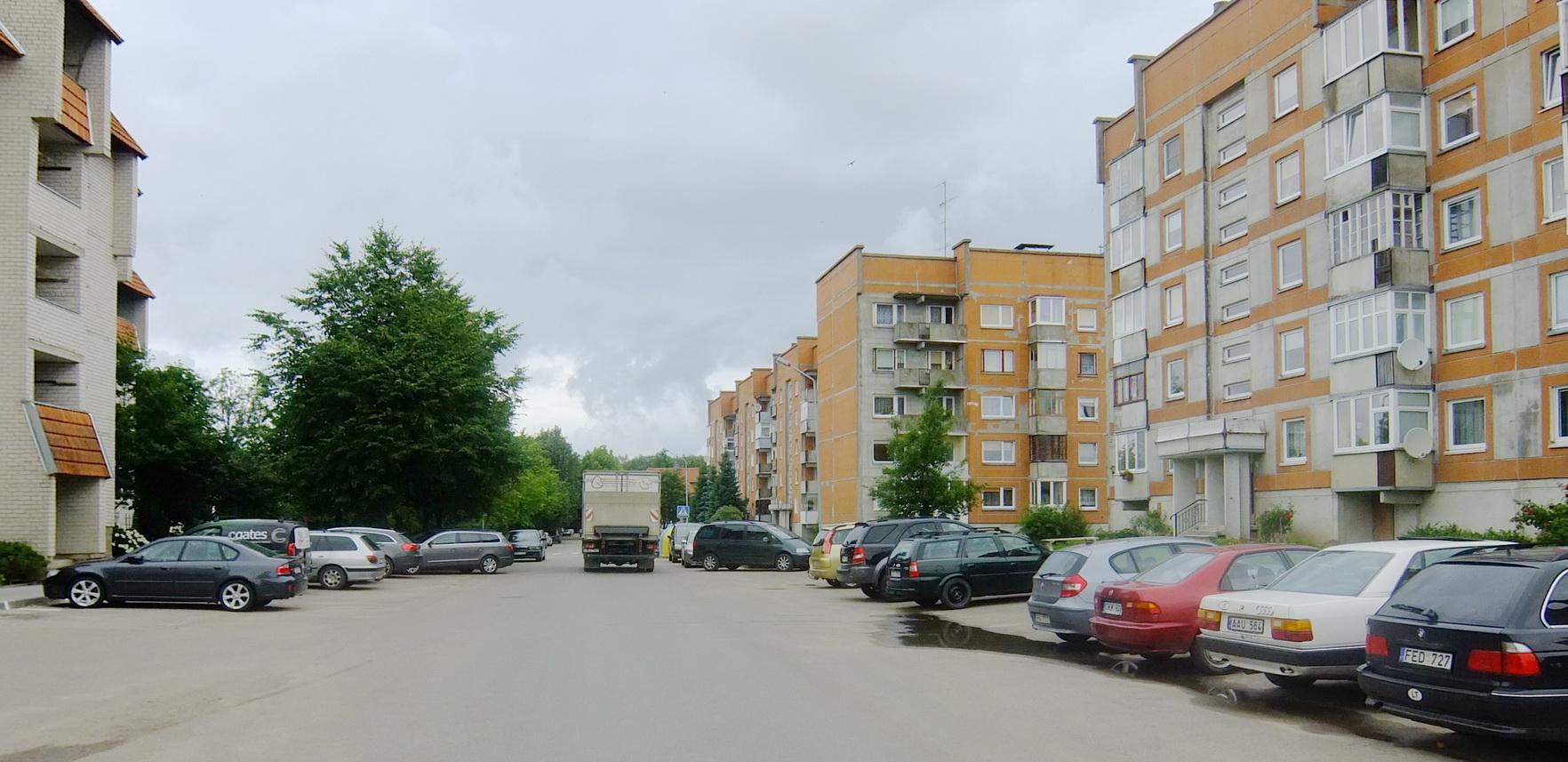 Liepų gatvė pavirtusi mašinų statymo aikštelėmis.