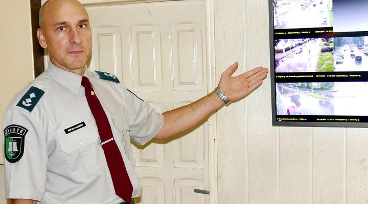 Anot Šilutės r. PK viršininko Artūro Mikalausko, galbūt kada nors ir Šilutėje prie stebėjimo kamerų kažkas budės.