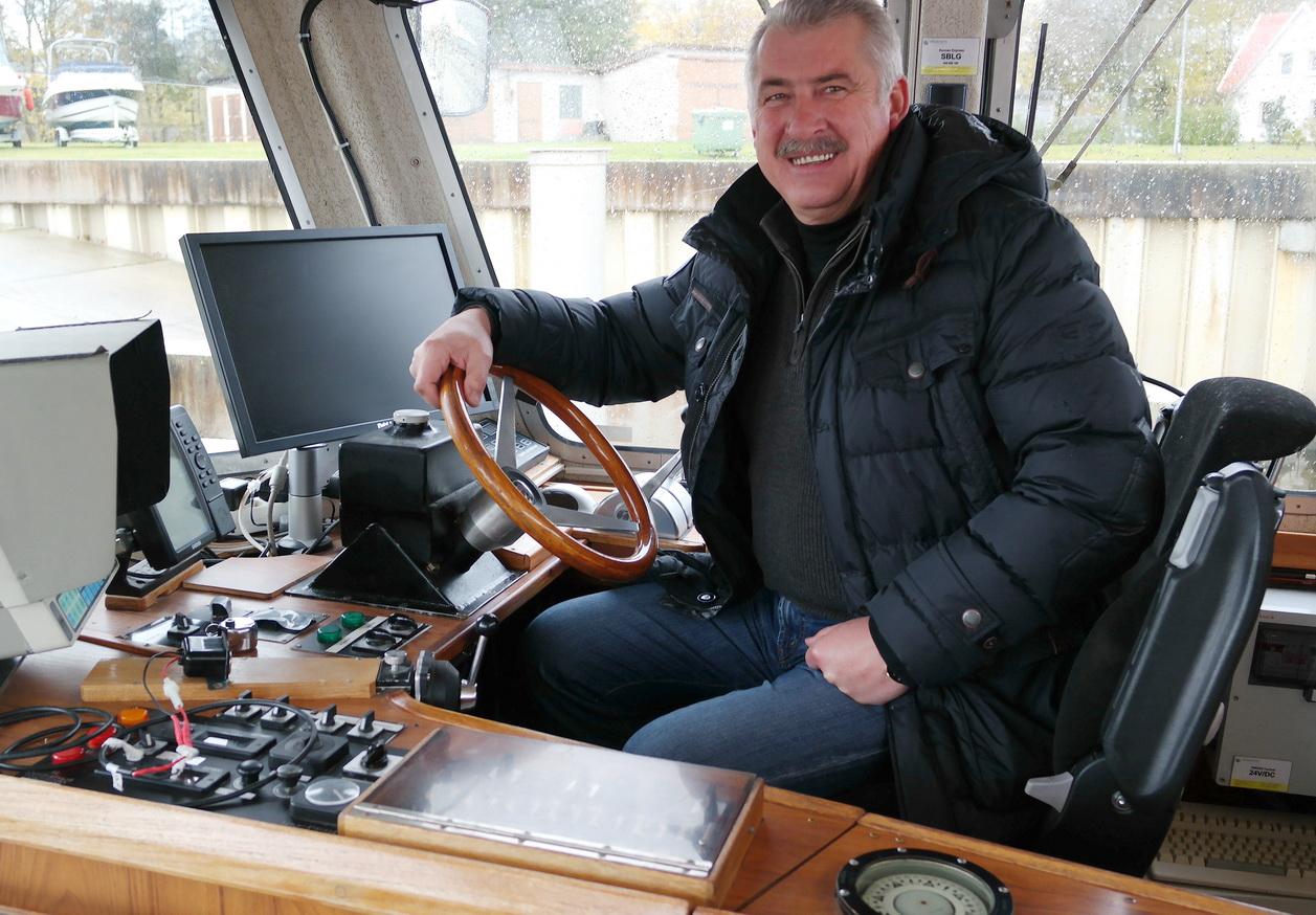 """Naująjį laivą jau išbandė ir UAB """"Kintai"""" direktorius Rimgaudas Višinskas."""