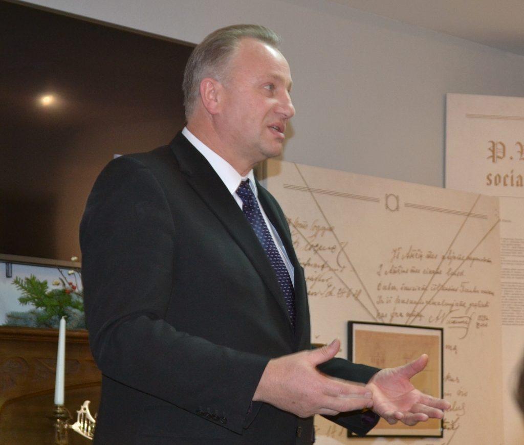 Mero Virginijaus Komskio padėka muziejaus kolektyvui ir jo talkininkams.