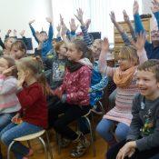 Atsakymus žinojo daug vaikų.  Birutės Morkevičienės nuotr.
