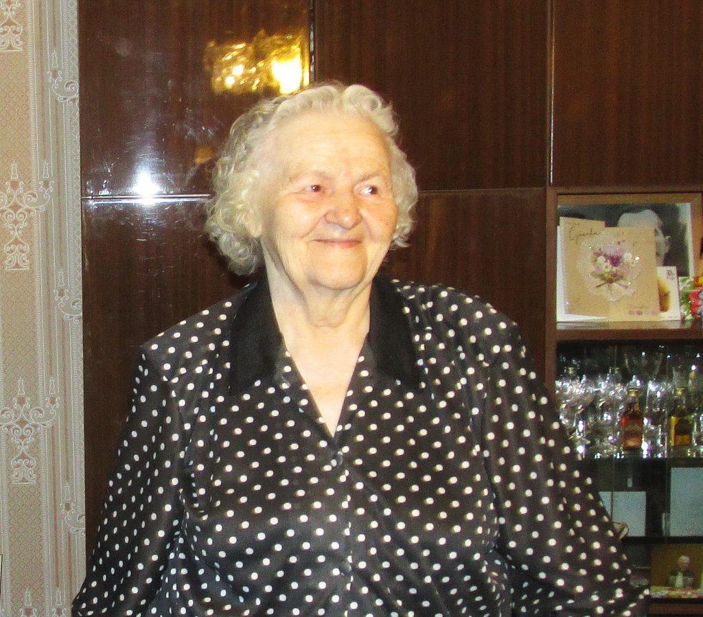 90-metė šilutiškė Nina Adamovič.