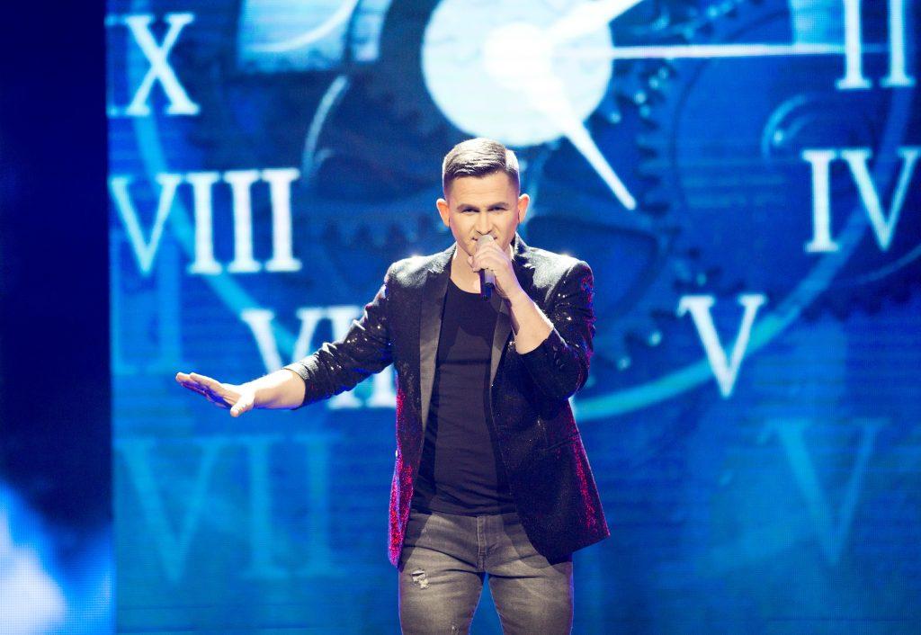 Valdas Lacko – Eurovizijos atrankos konkurso scenoje. Vytenio Radžiūno (LRT) nuotr.