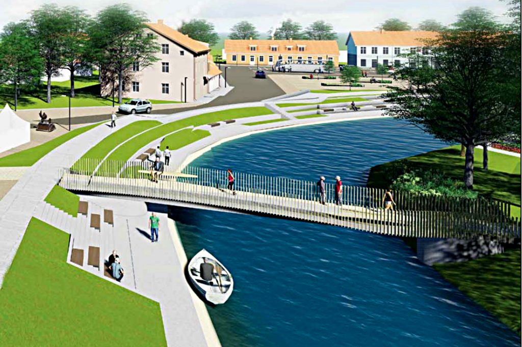 Daugiausiai diskusijų kilo dėl šio projekte numatyto pėsčiųjų–dviratininkų tilto.